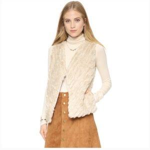 BB Dakota Keith Faux Fur Vest - CREAM Large NWOT